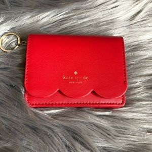 Kate Spade Card Holder with Key Ring Red